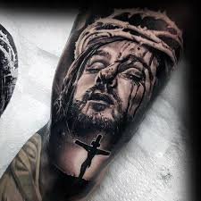 jesus on the cross mens arm tattoo design ideas tattoo flash