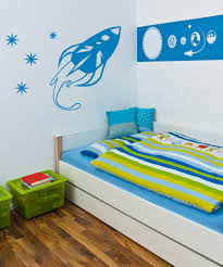 space vinyl wall decal sticker rocket ship with stars os aa204
