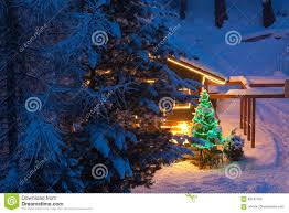 christmas tree outdoor decoration stock photo image 83187750