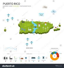 Map Puerto Rico Energy Industry Ecology Puerto Rico Map Stock Illustration