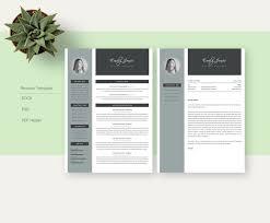 Resume Template Docx Professional Resume Template Modern Resume Template Cv Coverletter