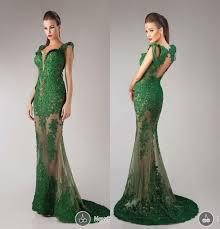 hanna toumajean 2017 evening dresses emerald green mermaid