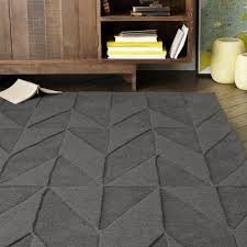 Solid Grey Rug Grey Wool Rug