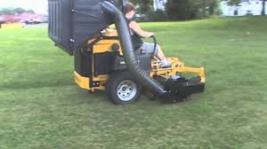 hustler super z diesel with pv 18 lawn vacuum leaf vacuum grass
