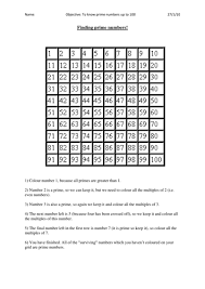 prime numbers and factors worksheet discovering prime numbers by bonniemarieone teaching resources tes