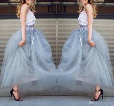 2018 Ankle Length Tulle Skirts Christmas Wear Floor Length Tutu