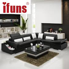 ifuns recliner leather corner sofa set european style l shape