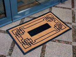 modern welcome mat modern door mats make your statement at the