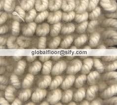loop rugs loop wool shaggy solid blue colour rug wool blue colour