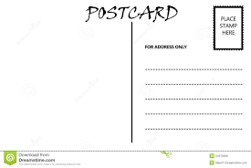 10 best images of free plain postcard templates printable blank