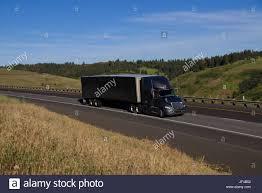 international semi truck black international semi truck black unmarked trailer stock