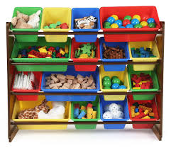 Toy Storage Furniture by Tot Tutors Discover Super Sized Toy Storage Organizer Walnut