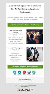 12 best event email templates for concerts ceremonies party