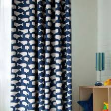 Nursery Curtains Sale Whale Blue And White Polyester Curtains For Blackout Two Panels