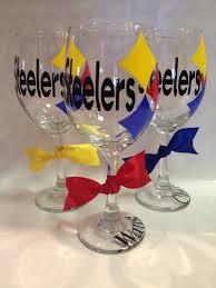 pittsburgh steelers wine glass