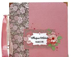 baby girl photo album baby girl scrapbook album baby girl baby shower gift premade