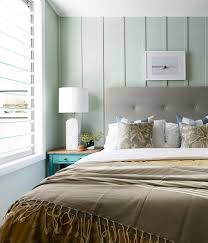 mint green bedroom with light green walls bedroom beach style and