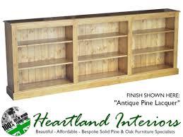 Pine Oak Furniture Solid Pine 3ft X 8ft Adjustable Long Bookcase