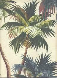 Tropical Upholstery Waikiki Tropical Botanical Vintage Hawaiian Fabric Hawaiian