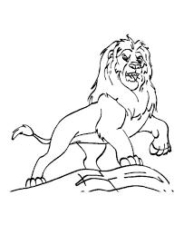mufasa lion king coloring color luna