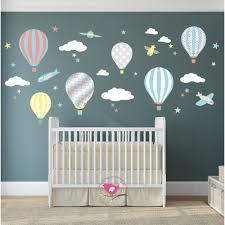 gender neutral baby room decor nursery decor ideal for creating a hot air balloon jets nursery wall sticker