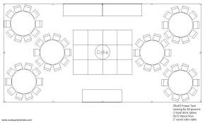 Round Table Seating Capacity Seating U0026 Layouts Cook Party Rentals Seating U0026 Layouts