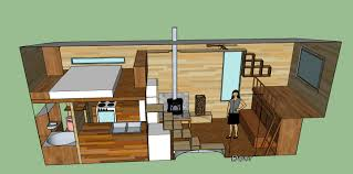 tiny house design with a cantilevered area a spare bed doubling