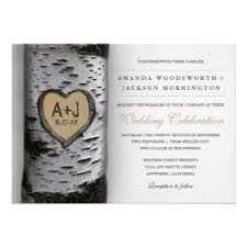Tree Wedding Invitations Birch Trees Wedding Invitations U0026 Announcements Zazzle