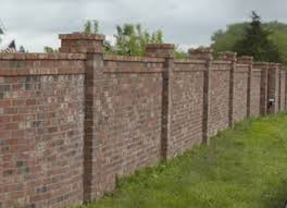 I Had A Brick Fence Until The May  Oklahoma Winds Blew It Down - Brick wall fence designs