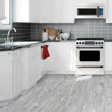 white kitchen cabinets with vinyl plank flooring home decorators collection straiated grey 12 in wide
