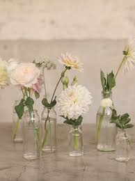 bud vase garland farm tables with lanterns and bud vases search small