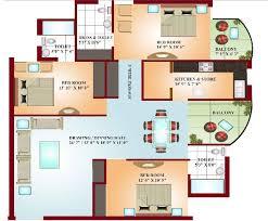 2 Bedroom Flat Floor Plan Delighful 3 Bedroom Floor Plans With Dimensions Decor