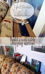 console table charging station for behind our sofa diy build project