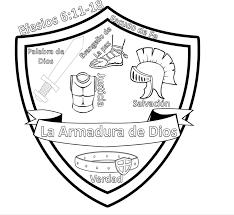 armor god spanish coloring sheet ephesians 6 11 18