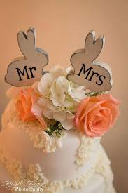 Bunny Rabbit Home Decor Mr And Mrs Love Bunnies Bunny Rabbit Cake Topper Custom Party