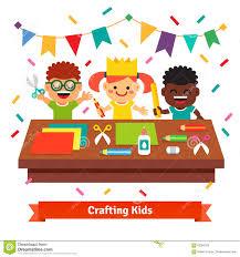 kids crafts in kindergarten creative children stock vector