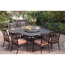 darlee st cruz 9 piece cast aluminum patio dining set with lazy