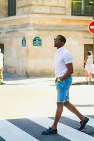 mens light blue shorts men s white short sleeve shirt light blue denim shorts black