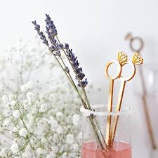 diamond ring cocktail stirrers by clouds and currents