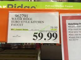 water ridge kitchen faucets costco 962791 water ridge style kitchen faucet tag costcochaser