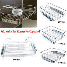 Pull Out Wire Baskets Kitchen Cupboards by Kitchen Cupboard Baskets Ebay