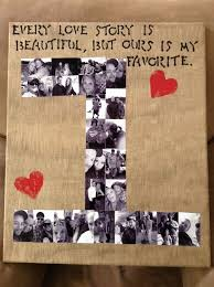 one year anniversary gift ideas for him number photo collage easy diy anniversary gift ideas for him