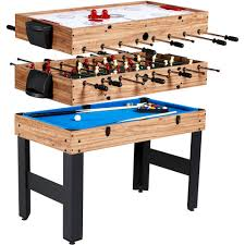 Game Tables Furniture Md Sports 48 Inch 3 In 1 Combo Game Table 3 Games With Billiards