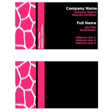 business card template google docs template design business cards