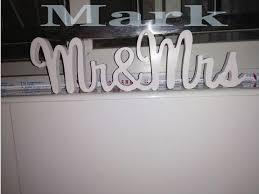 mr and mrs wedding signs mr mrs wedding sign white glitter shimmer wooden letters wedding