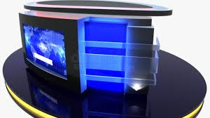News Studio Desk by Virtual Tv Studio News Desk 12 Datavideo Virtualset