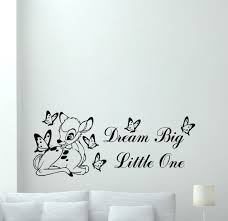 Wall Decal Music Headphones Teen by Amazon Com Bambi Disney Wall Decal Dream Big Little One Quote