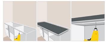 meuble cuisine a poser sur cool fixer un plan de travail cuisine