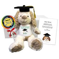 personalized graduation teddy personalized graduation dog gift set say it with a stuffed animal