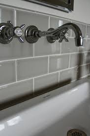glamorous subway tiles in kitchen with grays tiles backsplash and